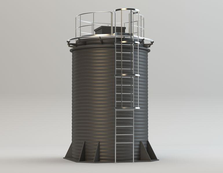 Емкости фильтров водоочистных сооружений 2